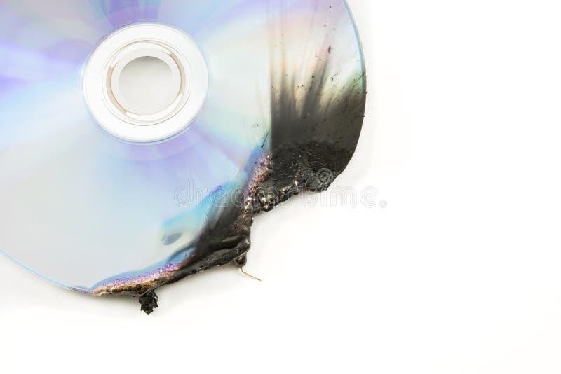 Dvd Disk Damage Stock Photo