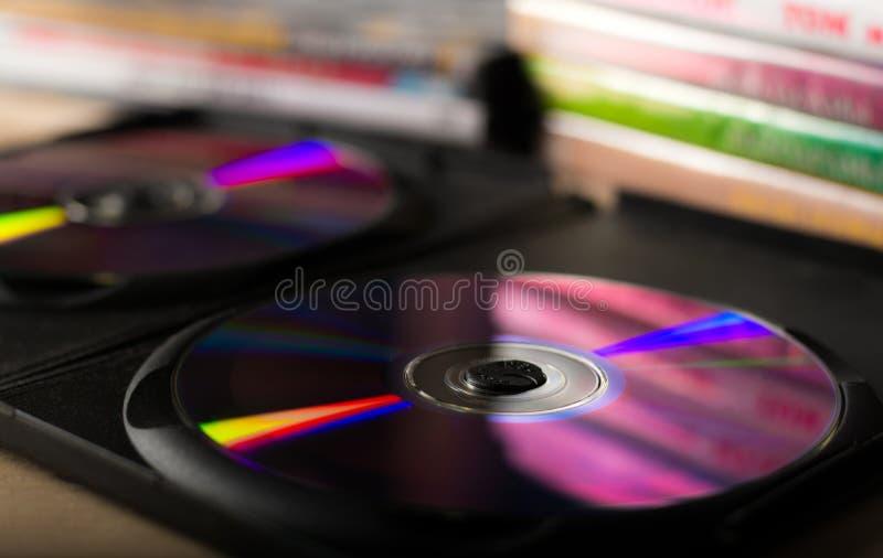 DVD-disketter royaltyfria bilder