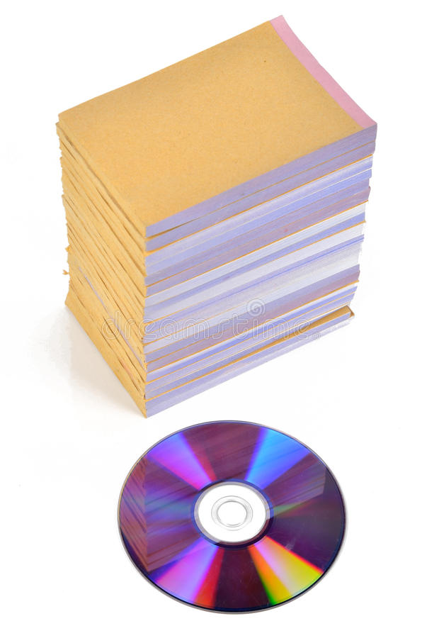 Download DVD and documents stock image. Image of modern, density - 22837951