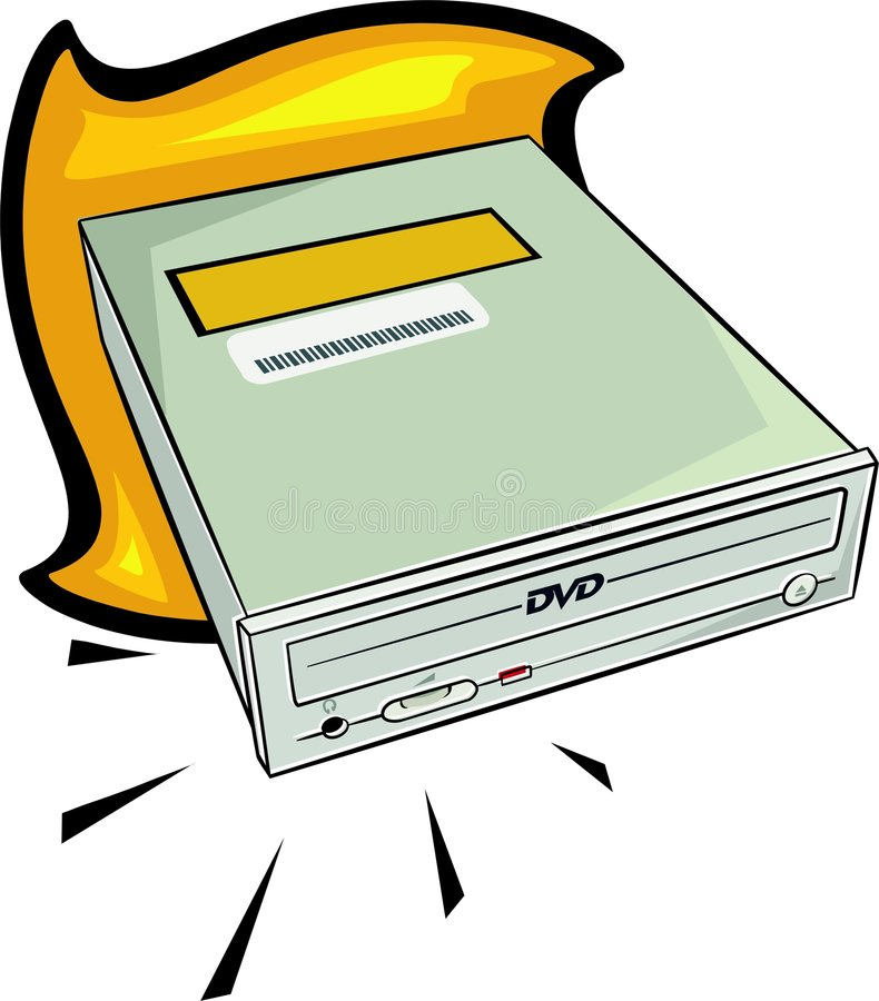 DVD drive stock illustration