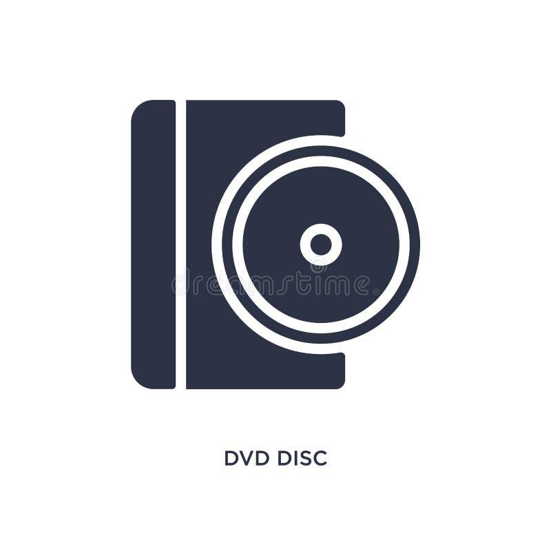 dvd dyska ikona na białym tle Prosta element ilustracja od muzycznego i medialnego pojęcia royalty ilustracja