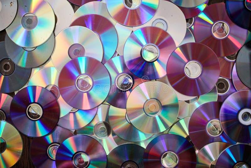 DVD e fundo CD foto de stock royalty free