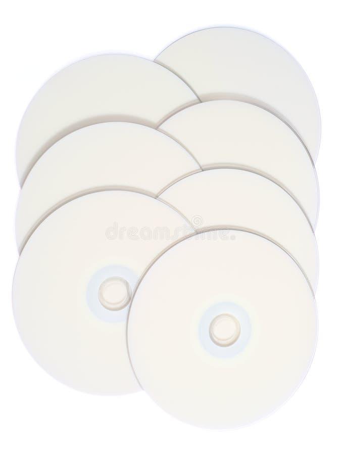 DVD em branco/discos CD ilustração do vetor