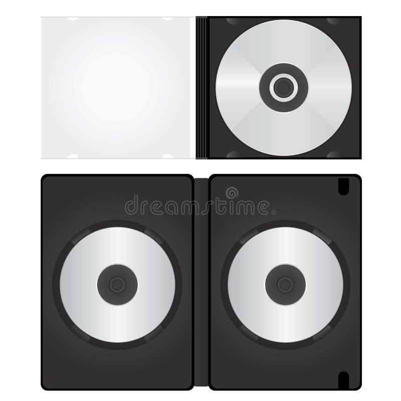 Dvd en de vector van de CDdoos stock illustratie