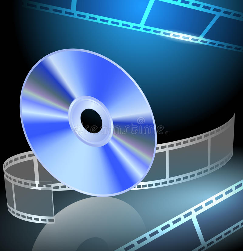 DVD en filmstrip vector illustratie