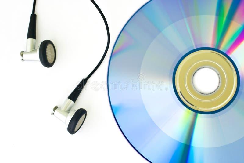 DVD et écouteur images libres de droits