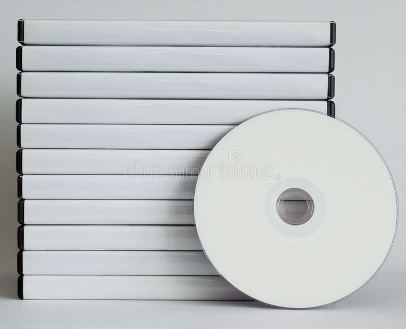 DVD Fälle lizenzfreie stockfotografie