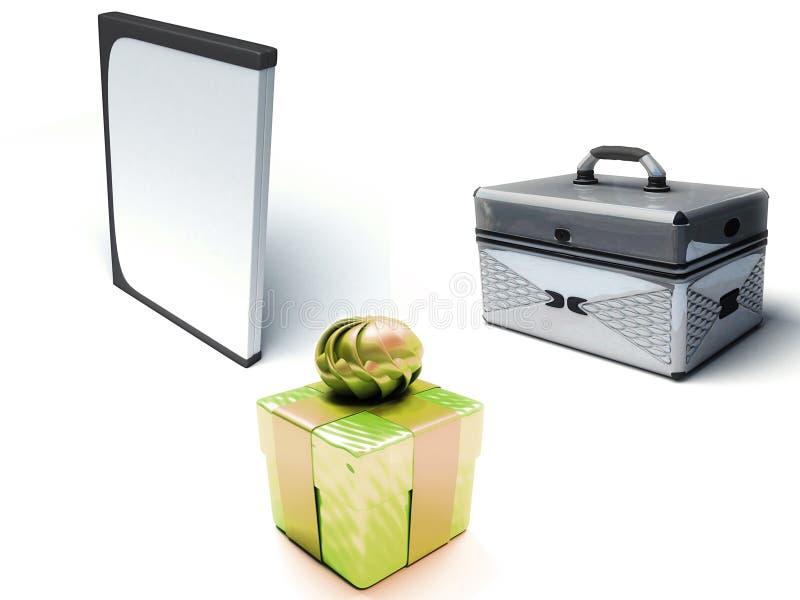 DVD Fall, Geschenkkasten, Fall lizenzfreie abbildung