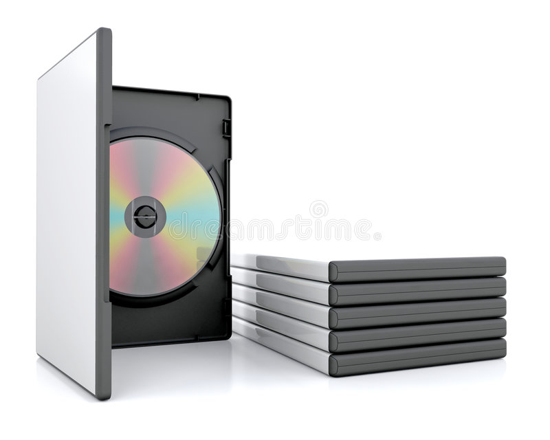 DVD falls vektor abbildung
