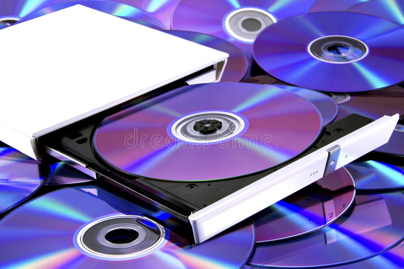 DVD multi recorder & cd's royalty free stock image