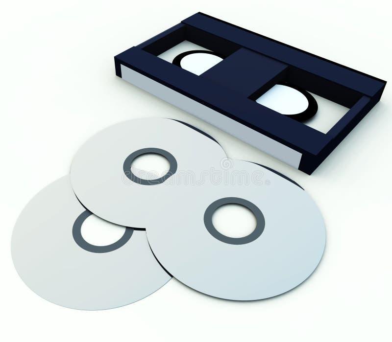 DVD och video 6 vektor illustrationer