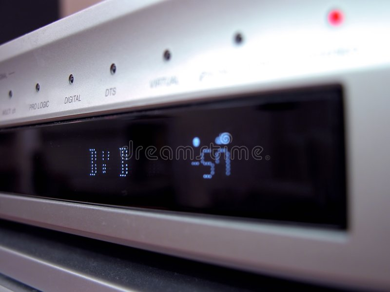 DVD Paneelclose-up Stock Afbeelding