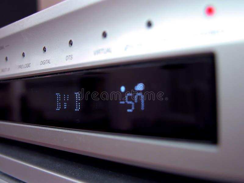 DVD panel closeup stock image