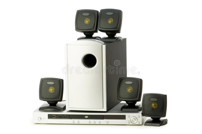 DVD Player And Speakers Royalty Free Stock Photos