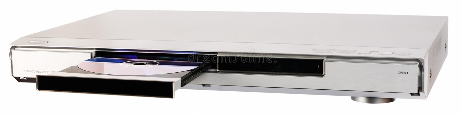 DVD recorder with open tray royalty free stock photos