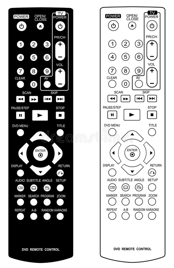Free DVD Remote Control. Royalty Free Stock Images - 4270029