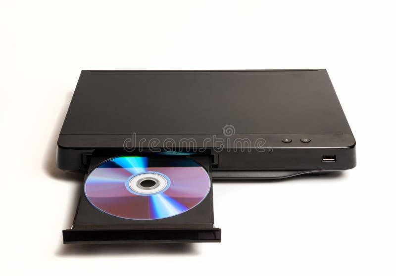 DVD/riproduttore di CD con il vassoio aperto isolato fotografie stock libere da diritti