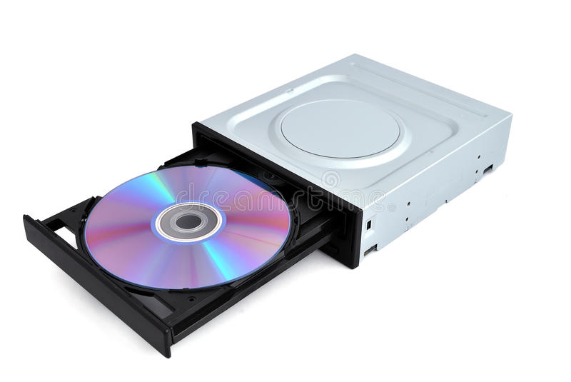 Dvd rom. Open dvd rom from a CD stock photos