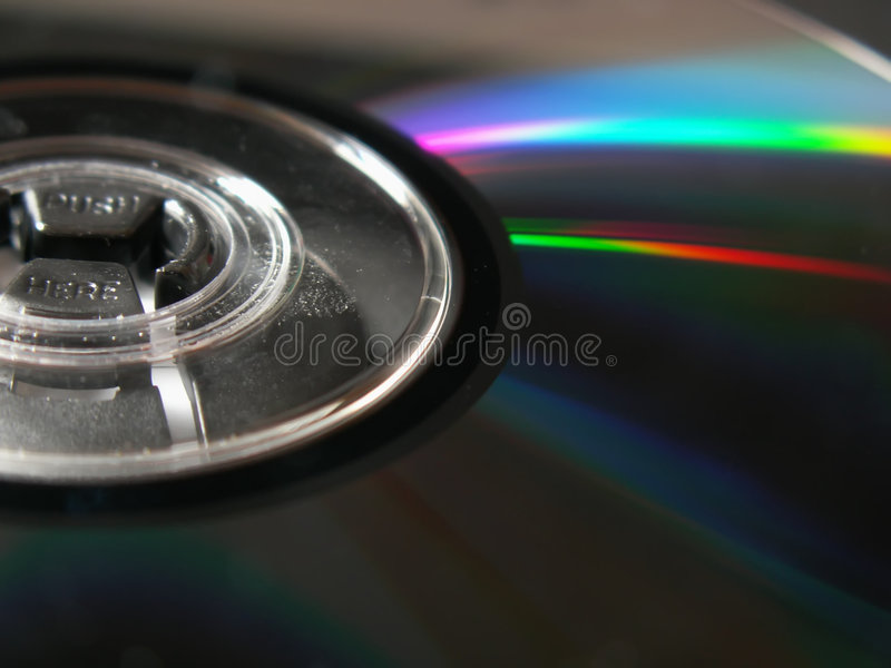 dvd rom 免版税库存照片