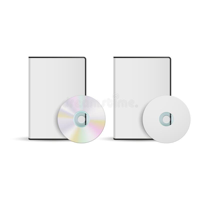 DVD-schijf en doosmalplaatje voor uw ontwerp, vector vector illustratie