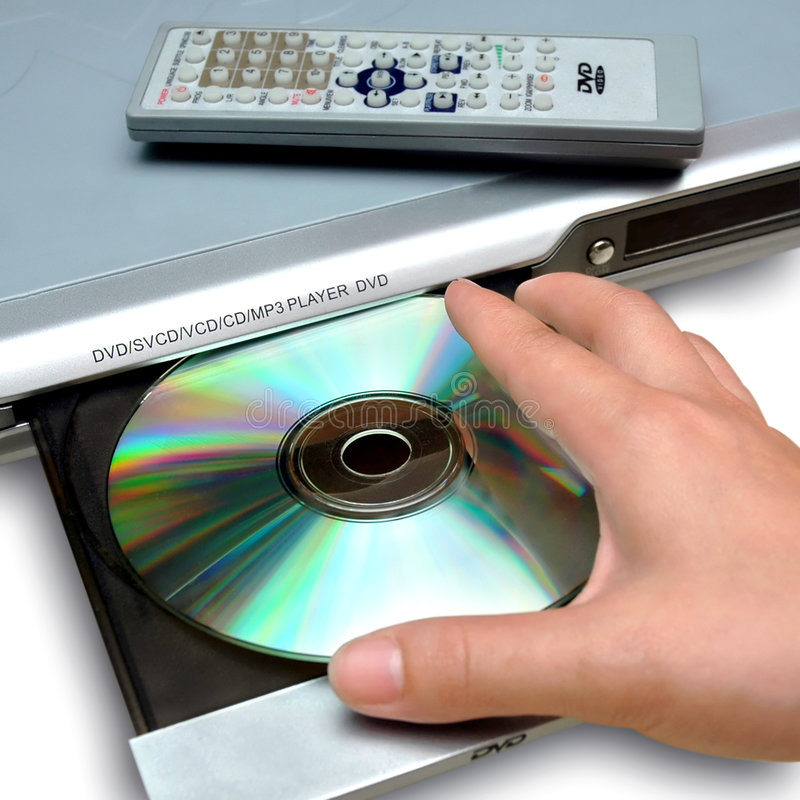 DVD-Spieler lizenzfreie stockfotos