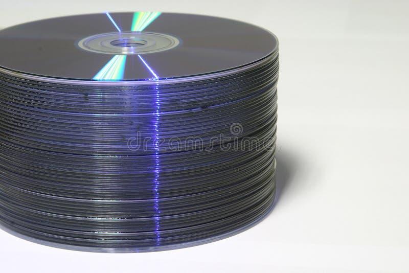 DVD Stapel stockfotos