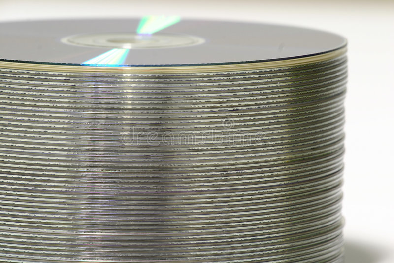 DVD Stapel lizenzfreie stockfotos
