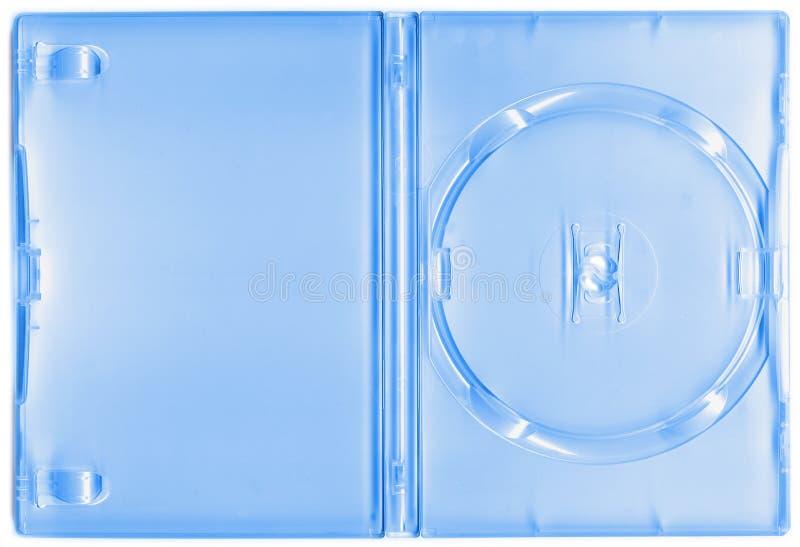 DVD trasparente o cassa CD immagini stock
