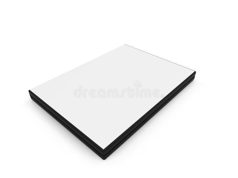 Dvd unbelegter Kasten über Weiß stock abbildung