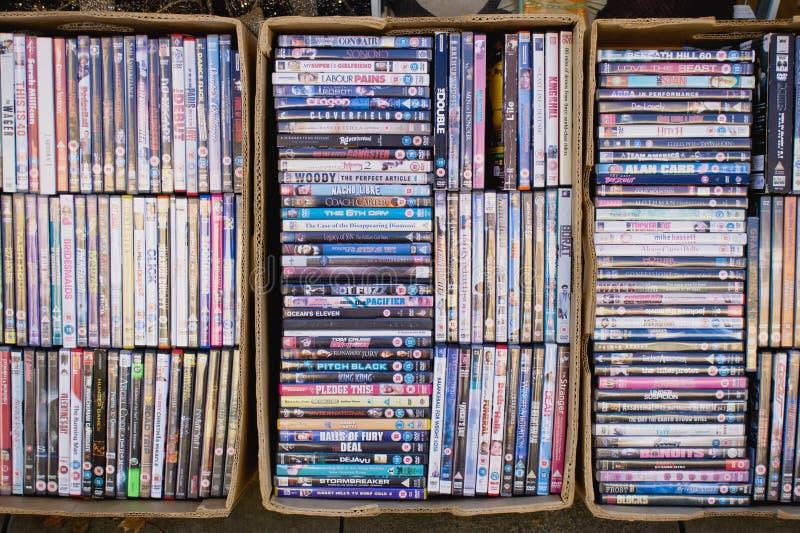 DVDs royaltyfri fotografi