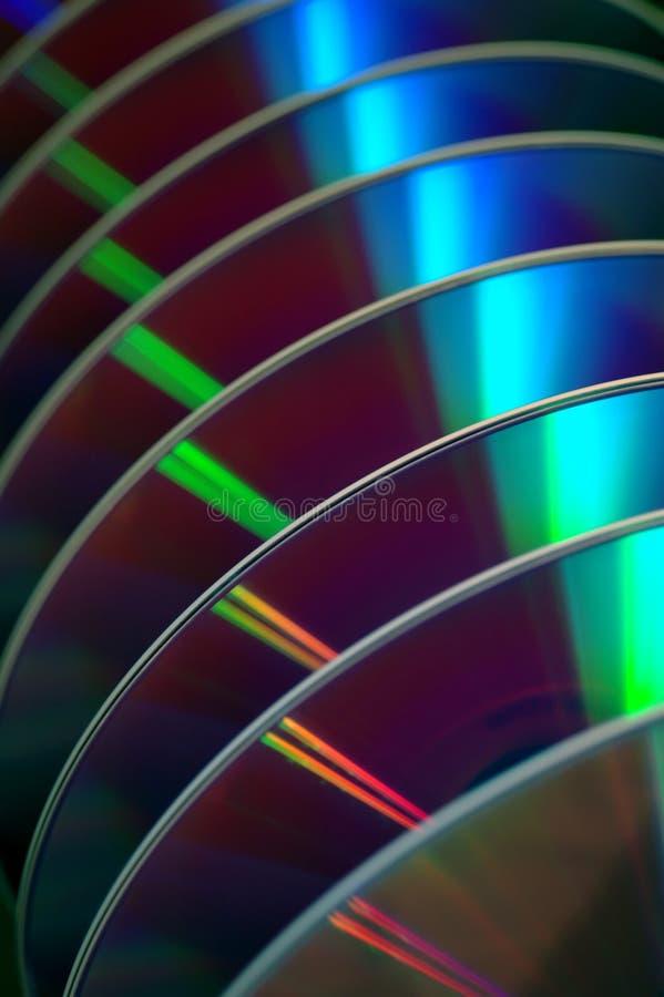 DVDs in een rij stock foto