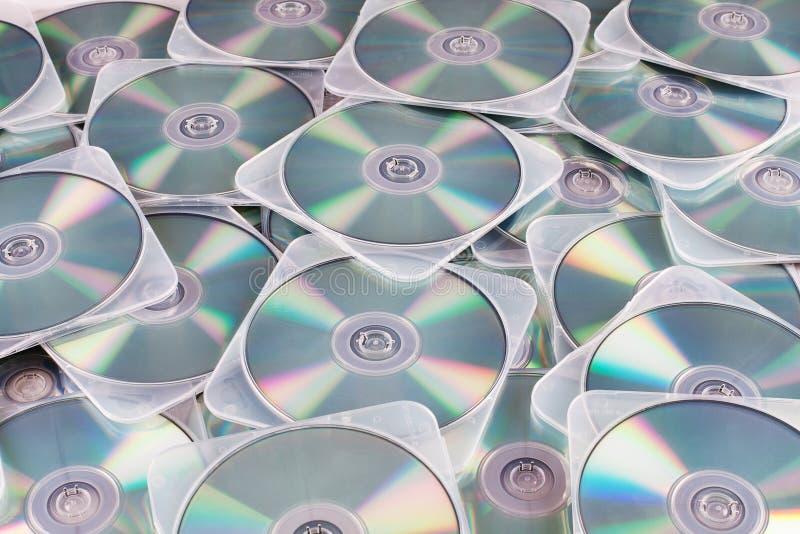 DVDs i fall arkivfoto