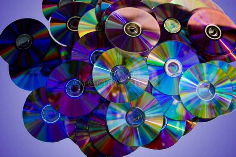 DVDs variopinto fotografia stock libera da diritti