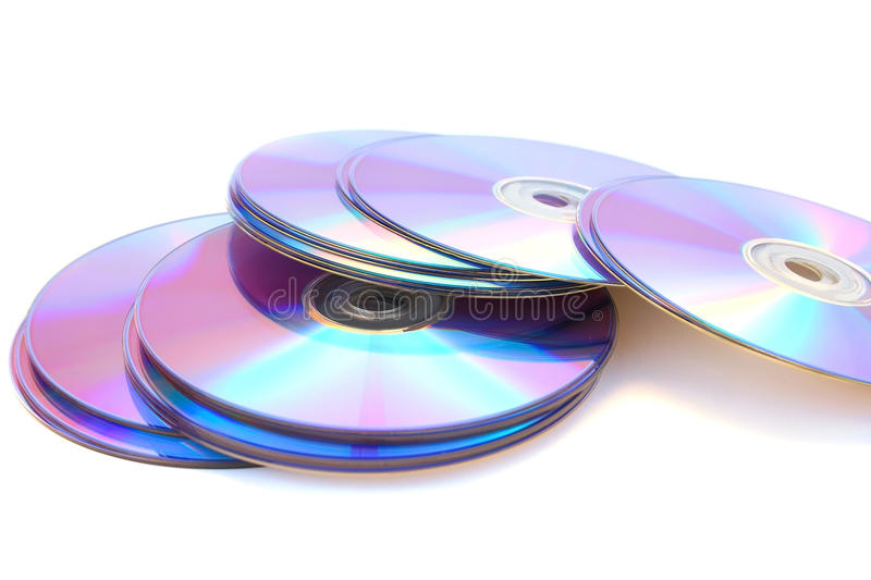 DVDs On White Stock Image