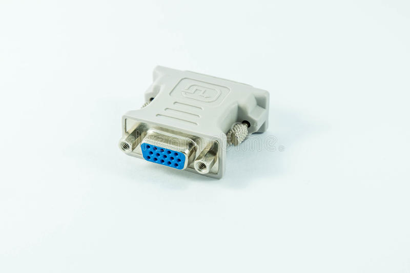 Dvi converter on white background stock photo