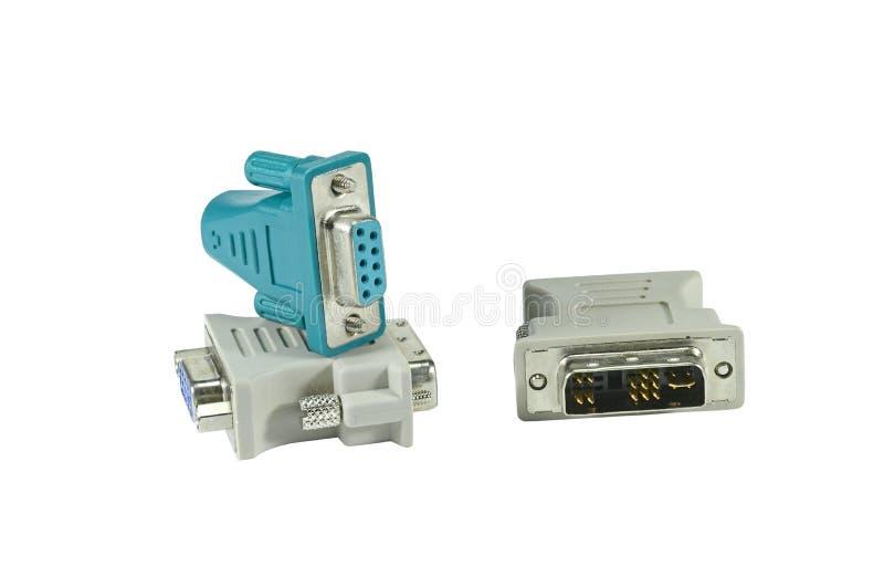 DVI zum VGA-Adapter stockbilder