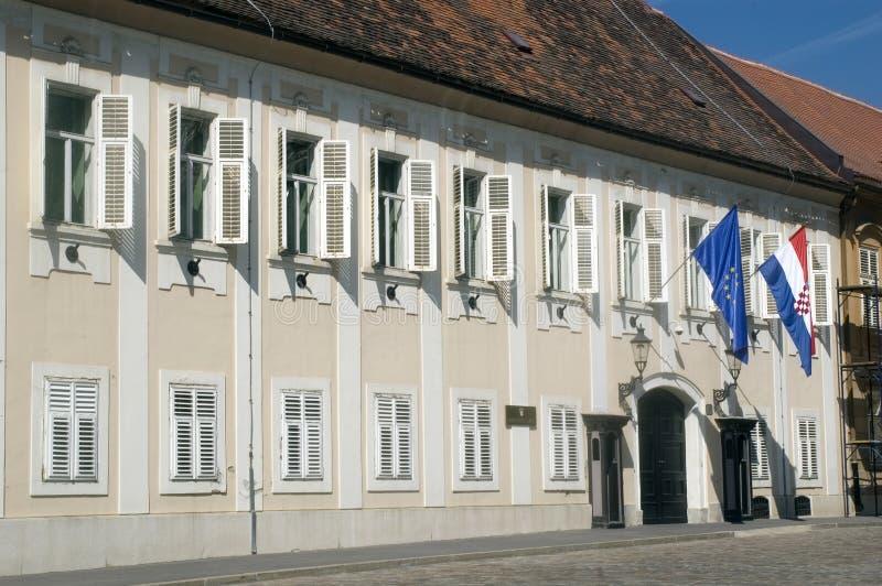 Dvori Zagreb Croatia de Banski fotos de stock royalty free