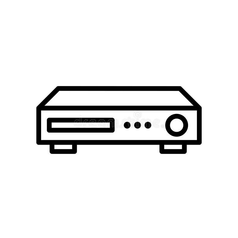 dvr ikona odizolowywająca na białym tle ilustracji