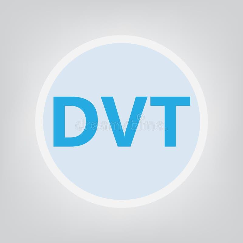 DVT Deep Vein Thrombosis acronym. Vector illustration stock illustration