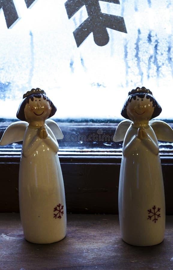 dwóch aniołów fotografia stock