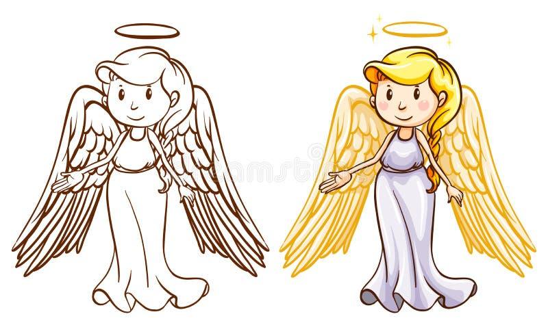 dwóch aniołów ilustracja wektor