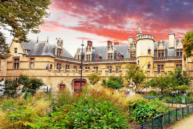Dwór i thermae Cluny.Paris.France fotografia royalty free