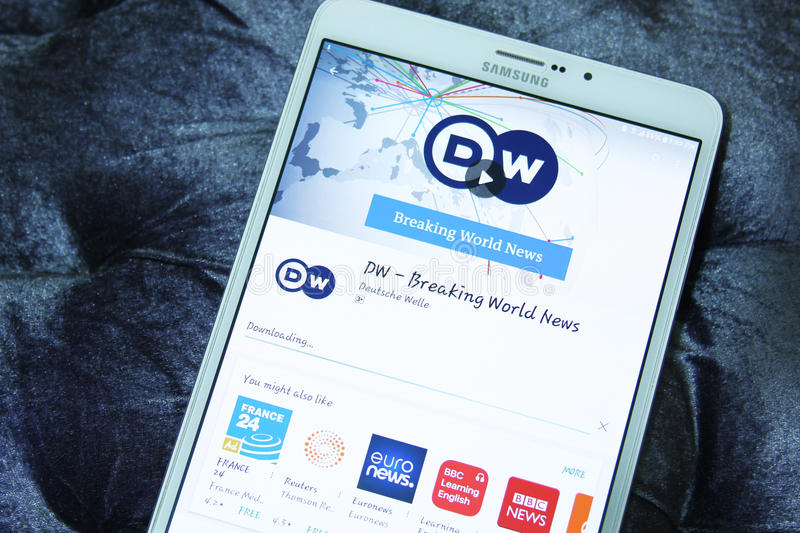 DW, deutsche Welle breaking world news mobile app royalty free stock photos