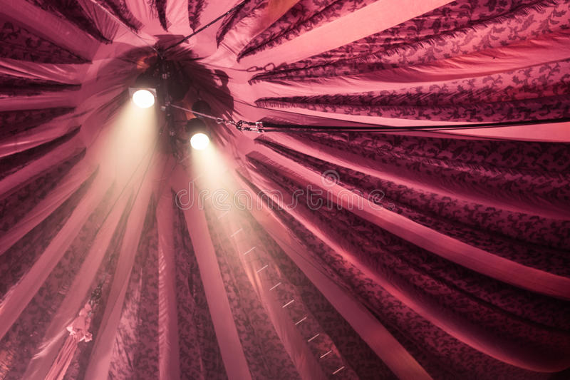 Dwa światła reflektorów na sławie obrazy royalty free