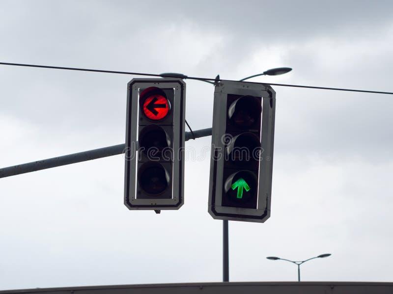 Dwa światła ruchu obraz stock