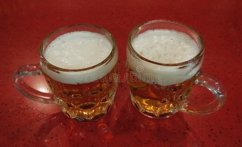 Dwa świeżego piwa zdjęcie royalty free