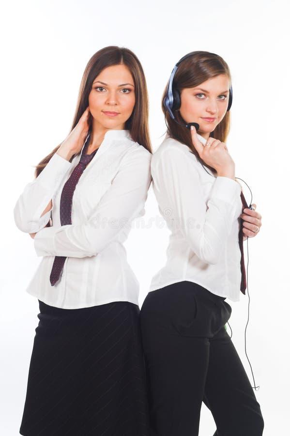Dwa atrakcyjnej biznesowej kobiety o obrazy royalty free