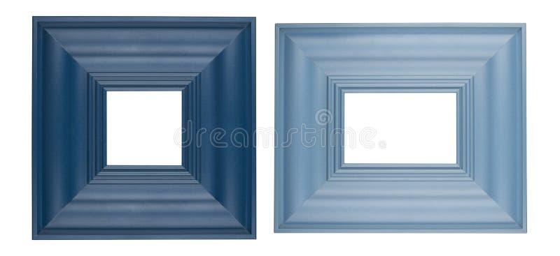 Dwa błękita obrazka kwadratowej ramy fotografia stock