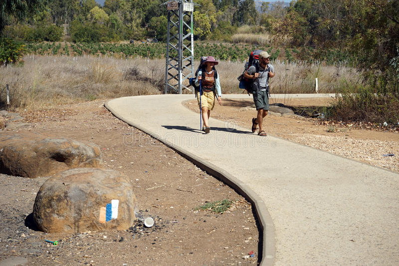 Dwa backpackers zdjęcie royalty free