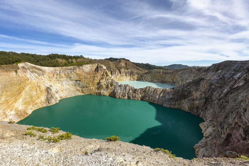 Dwa barwionego jeziora zdjęcie stock